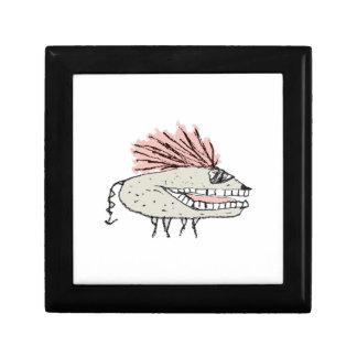 Monster Rat Hand Draw Illustration Gift Box