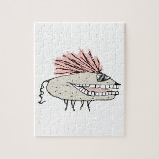 Monster Rat Hand Draw Illustration Jigsaw Puzzle
