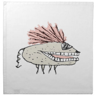 Monster Rat Hand Draw Illustration Napkin