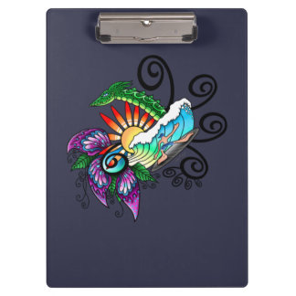 Monster Surf Dreams Clipboard