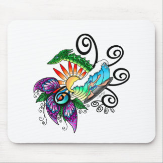 Monster Surf Dreams Mouse Pad