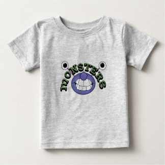 Monster Theme Funny 2 Eyes Mouth Monsters T-Shirt