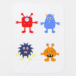 Monster Themed Baby Blanket