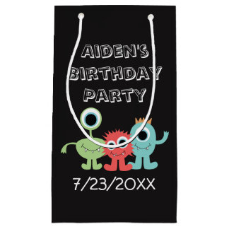 Monster Themed Birthday Party Bags
