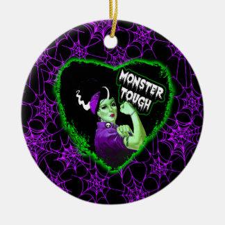 Monster Tough Round Ceramic Ornament