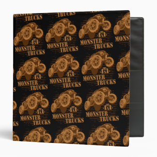 Monster Truck 4x4 Off Road 3 Ring Binders