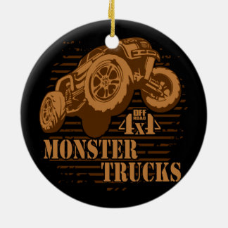 Monster Truck 4x4 Off Road Ceramic Ornament