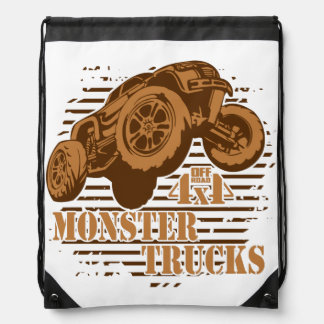 Monster Truck 4x4 Off Road Drawstring Bag