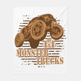 Monster Truck 4x4 Off Road Fleece Blanket