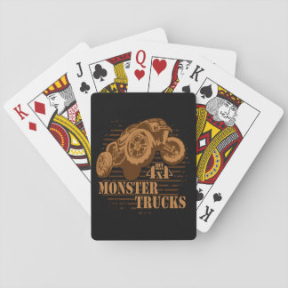 Monster Truck 4x4 Off Road Playing Cards
