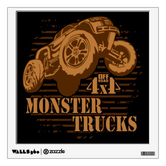 Monster Truck 4x4 Off Road Wall Decal