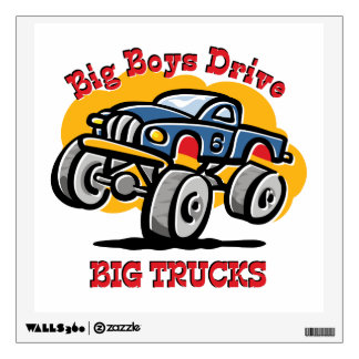 Monster Truck 6th Birthday Wall Decal