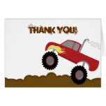 Monster Truck Birthday Folded Thank you note Greeting Card