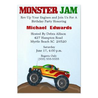 Monster Truck Birthday Invitations Announcements Zazzle Canada