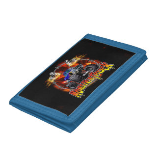Monster Truck blue on Fire Trifold Wallet