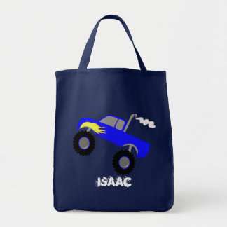 MONSTER TRUCK CANVAS TRUCK TOTE BAG
