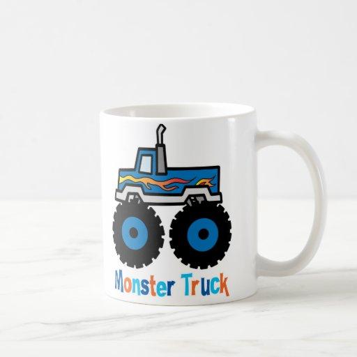 Monster Truck Classic White Coffee Mug