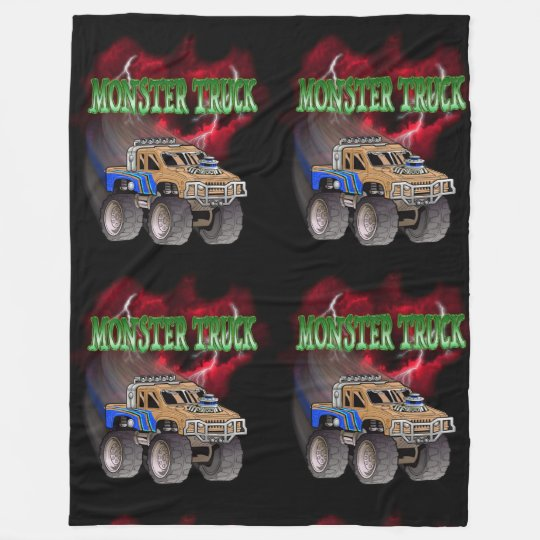 MONSTER TRUCK FLEECE BLANKET