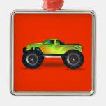 Monster Truck - Green Christmas Ornament