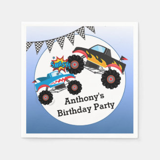 Monster Truck Kids Boy Birthday Party Paper Napkins