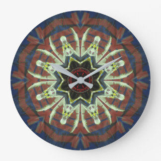 Monster Truck Mandala Z1 Large Clock