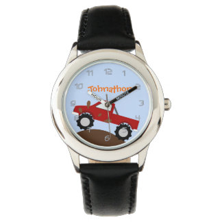 Monster Truck Personalized Watch