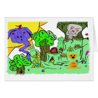 MONSTER VALLEY GREETING CARD