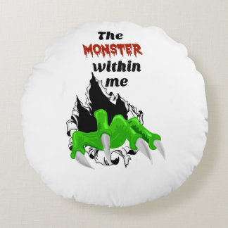Monster within me throw pillow