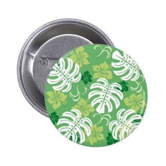 MONSTERA 2 INCH ROUND BUTTON