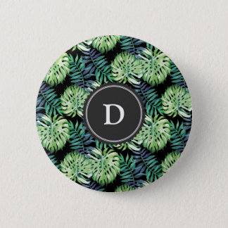 Monstera deliciosa Hawaiian 2 Inch Round Button