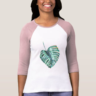 Monstera leaf modern tropical exotic T-Shirt