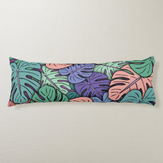 Monstera Leaves #8 Body Pillow