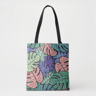 Monstera Leaves #8 Tote Bag