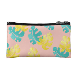 Monstera leaves Cosmetic Bag
