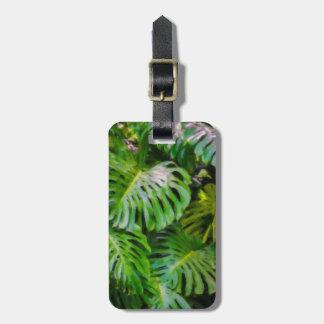 Monstera Leaves, Limahuli Gardens, Kauai, Hawaii Luggage Tag