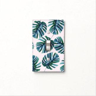 Monstera Pattern Single Toggle Light Switch Cover