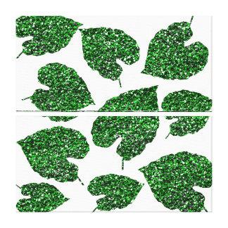 Monstera Tropical Cali Green Leaf Botanical White Canvas Print