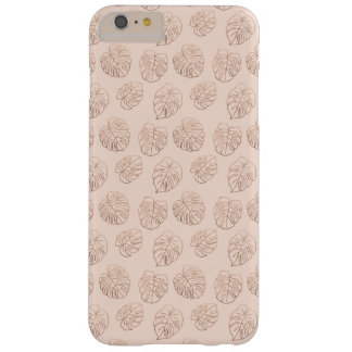 Monstera Tropical Copper Pattern Barely There iPhone 6 Plus Case