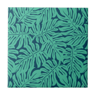 Monstera Tropical Leaf Pattern Ceramic Tiles