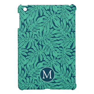 Monstera Tropical Leaf Pattern | Monogram Case For The iPad Mini