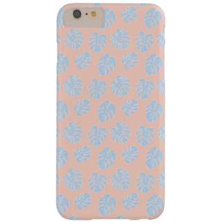 Monstera Tropical Pastel Coral & Lavender Pattern Barely There iPhone 6 Plus Case