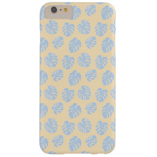 Monstera Tropical Pastel Lemon & Lavender Pattern Barely There iPhone 6 Plus Case