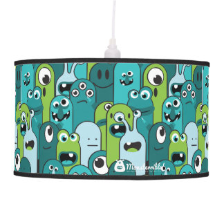 Monsterrible! blue monster invasion lamp