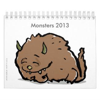 monsters 2013 (customizable) calendars