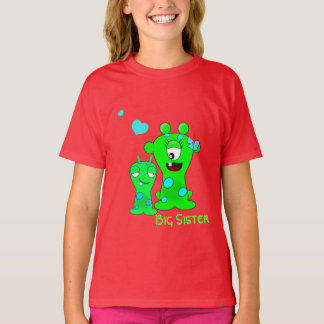 Monsters, Big Sister, Little Brother Cartoon T-Shirt