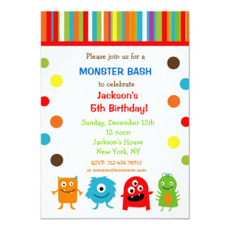 Monsters Birthday Invitations