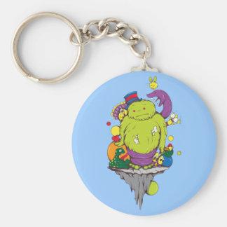 Monsters & Creatures Cartoon Fantasy Basic Round Button Keychain