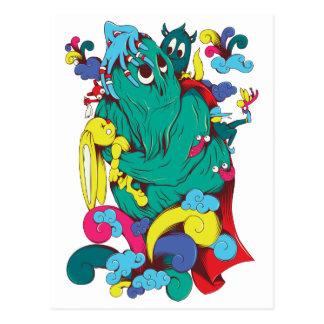 Monsters & Creatures Fantasy Cartoon Art Post Card