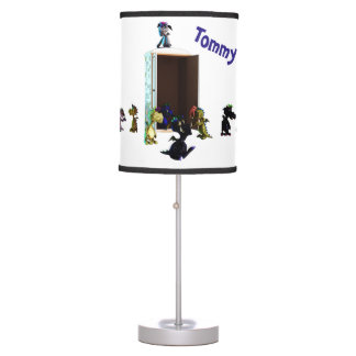 Monsters in Cupboard Table Lamp