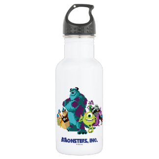 Monsters Inc 8Bit Mike, Sully, and the Gang 532 Ml Water Bottle